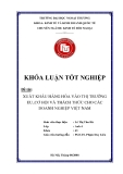 Khóa luận tốt nghiệp: Xuất khẩu hàng hóa vào thị trường EU - Cơ hội và thách thức cho các doanh nghiệp Việt Nam