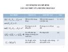 Bài giảng Cơ sở đánh giá mô hình các giả thiết của phương pháp OLS