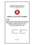 Khóa luận tốt nghiệp: Phương thức thâm nhập thị trường thế giới của công ty Coca-cola và bài học kinh nghiệm cho các doanh nghiệp Việt Nam