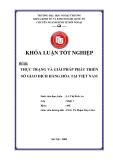 Khóa luận tốt nghiệp: Thực trạng và giải pháp phát triển sở giao dịch hàng hóa tại Việt Nam (2009)