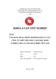 Khóa luận tốt nghiệp: Ứng dụng blog trong kinh doanh của các công ty trên thế giới và bài học kinh nghiệm cho các doanh nghiệp Việt Nam
