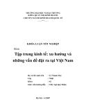 Khóa luận tốt nghiệp: Tập trung kinh tế: xu hướng và những vấn đề đặt ra tại Việt Nam