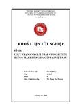 Khóa luận tốt nghiệp: Thực trạng và giải pháp cho các tình huống Marketing đa cấp tại Việt Nam