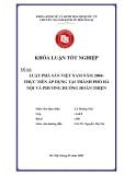 Khóa luận tốt nghiệp: Luật phá sản Việt Nam năm 2004 - thực tiễn áp dụng tại thành phố Hà Nội và phương hướng hoàn thiện