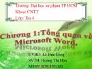 Bài thuyết trình Tổng quan về Microsoft Word