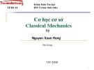 Bài giảng Cơ học tính toán: Cơ học cơ sở Classical Mechanics - Nguyễn Xuân Hùng