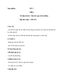 Giáo án Âm nhạc 8 bài 1: Tập đọc nhạc: TĐN số 1