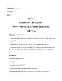 Giáo án Âm nhạc 7 bài 6: ANTT: Vài nét về âm nhạc thiếu nhi Việt Nam