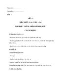 Giáo án Âm nhạc 7 bài 7: Học hát: Ca chiu sa