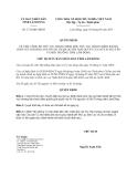 Quyết định 1721/QĐ-UBND năm 2013