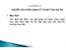 Bài giảng Lập dự án: Chương 4