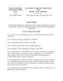 Quyết định 1912/QĐ-UBND năm 2013