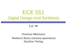 ECE 551 Digital Design And Synthesis: Lecture 3