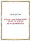 SKKN: Hướng dẫn học sinh khai thác môn bài tập Hình học sách giáo khoa Toán 9