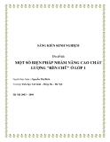 SKKN: Một số biện pháp nhằm nâng cao chất lượng rèn chữ ở lớp 1
