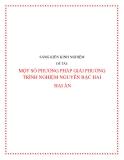 SKKN: Một số phương pháp giải phương trình nguyên bậc hai hai ẩn