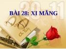 Bài 28: Xi măng - Bài giảng điện tử Khoa học 5 - T.B.Minh