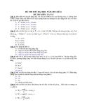 Đề thi thử ĐH môn Vật lí năm 2013 đề số 1
