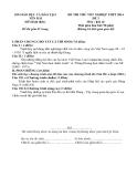 Đề thi thử tốt nghiệp THPT môn Lịch sử - Sở GD&ĐT Yên Bái năm 2014 đề 3