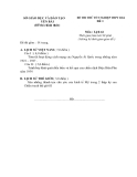 Đề thi thử tốt nghiệp THPT môn Lịch sử - Sở GD&ĐT Yên Bái năm 2014 đề 1