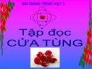 Bài giảng Tiếng Việt 3 tuần 13 bài: Tập đọc - Cửa tùng