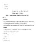 Giáo án Âm nhạc 6 bài 7: Tập đọc nhạc: TĐN số 8. Nhạc lí: Những kí hiệu thường gặp trong bản nhạc