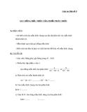 Giáo án Đại số 8 chương 2 bài 4: Quy đồng mẫu thức nhiều phân thức