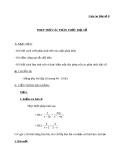 Giáo án Đại số 8 chương 2 bài 6: Phép trừ các phân thức đại số