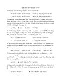 Đề thi thử Đại học môn Vật lý 2014 đề số 47