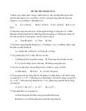 Đề thi thử Đại học môn Vật lý 2014 đề số 33