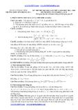 Đề thi thử ĐH môn Toán lần 1 (2013-2014) khối A,B,A1 - THPT Yên Phong Số 1 (Kèm đáp án)