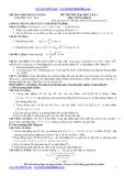 Đề thi thử Đại học môn Toán lần 1 (2013-2014) khối D - THPT Hùng Vương (Kèm đáp án)