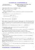 Đề thi thử ĐH môn Toán lần 1 (2013-2014) khối A,B,A1 - THPT Phan Đăng Lưu (Kèm đáp án)