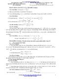 Đề thi thử ĐH môn Toán lần 1 (2013-2014) khối A,B - THPT Thuận Thành Số 1 (Kèm đáp án)