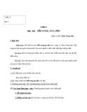 Giáo án Âm nhạc 9 bài 3: Học hát: Nối vòng tay lớn