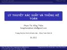 Bài giảng Lý thuyết xác suất và thống kê toán: Chương 1 - Phạm Thị Hồng Thắm
