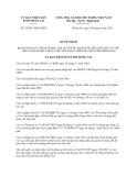 Quyết định 58/2013/QĐ-UBND