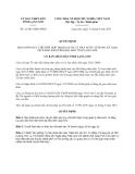 Quyết định 21/2013/QĐ-UBND tỉnh Lạng Sơn
