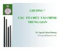 Bài giảng Lý thuyết tài chính tiền tệ: Chương 7 - TS. Nguyễn Hoài Phương