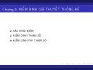Bài giảng Lý thuyết xác suất và thống kê toán: Chương 8 - Phạm Thị Hồng Thắm