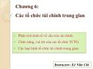 Bài giảng Lý thuyết tài chính tiền tệ: Chương 6 - Lê Vân Chi