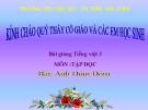 Slide bài Tập đọc: Anh đom đóm - Tiếng việt 3 - GV.N.Tấn Tài