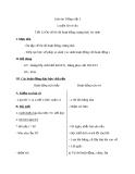 Giáo án bài LTVC: Ôn tập về từ chỉ hoạt động, trạng thái (Tuần 12) - Tiếng việt 3 - GV.N.Tấn Tài