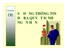 Bài giảng Kế toán quản trị: Chương 6 (tt) - TS. Đào Thị Thu Giang