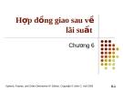 Bài giảng Tài chính phái sinh: Chương 6 - Hợp đồng giao sau về lãi suất