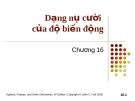 Bài giảng Tài chính phái sinh: Chương 16 - Dạng nụ cười của độ biến động