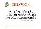 Bài giảng Tài chính doanh nghiệp: Chương 4 - ThS. Thô Thị Thanh Trúc