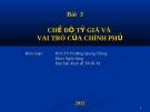 Bài giảng Tài chính quốc tế: Bài 3 - PGS.TS. Trương Quang Thông