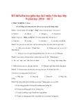 Đề thi kiểm tra giữa học kì I môn Văn học lớp 9 năm học 2014 – Đề 3