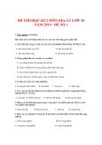Đề thi học kì ii môn Địa lý lớp 10 năm 2014 - Đề số 1